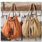 Jute Kilim Bag with Hemp Handles