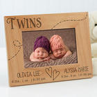Personalized Twins 4x6 Picture Frame