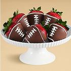 6 Football Chocolate Dipped Berries