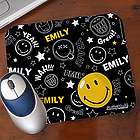 Personalized Smiley Face Mouse Pad