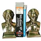 Lincoln Bust Bookends Brass