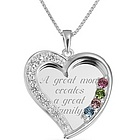 Sterling Silver Swing Heart Necklace with Keepsake Box