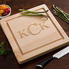 Personalized Square Wood Cutting Board