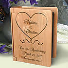 Personalized One Love, One Heart Wooden Photo Album