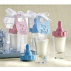 Baby's First Bottle and Candle Baby Shower Favor Set