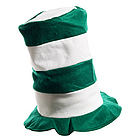 Green and White Stove Top Hat