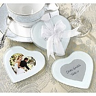 Baby Shower Favor Heart Photo Coaster