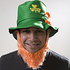 St. Pat's Leprechaun Hat and Beard Set
