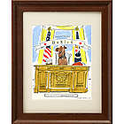 Picture Your Pet as President Framed Drawing