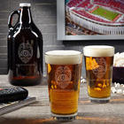 Police Badge Personalized Growler and Pint Glasses