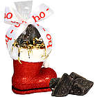 Santa's Boot with Chocolate Coal Candy