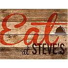 Customized Eat Wood Restaurant Sign Canvas Print