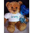 Personalized Teddy Bear with Heart Balloon