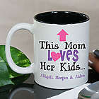 Personalized This Mom Loves Her Kids Coffee Mug
