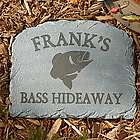 Personalized Sportsmen Bass Stepping Stone
