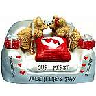 Personalized First Valentine's Day Kissing Couple Figurine