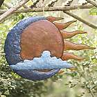 Sun, Moon and Cloud Metal Wall Art