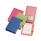 Flip Style Leather Jotter With Pad and Pen