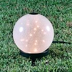 Small Luna Lantern on Petite Stand with Sparkle Globe