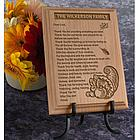 Personalized Thanksgiving Thank You Prayer Wooden Plaque