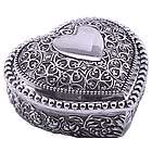 Engraved and Beaded Ornate Heart Jewelry Box
