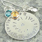 All Because Two People Feel In Love Hand Stamped Necklace
