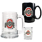 Ohio State Buckeyes 3 Piece Glass Set