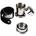 Stainless Steel Travel Shot Cup with Case