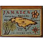 Map of Jamaica Leather Photo Album in Color