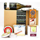 Wine Cheeses, Crackers and Candle Gift Box