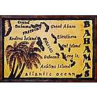Map of the Bahamas Leather Photo Album in Color