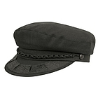 Black Cotton Greek Fisherman Cap