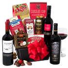 Christmas Wine and Snacks Gift Basket