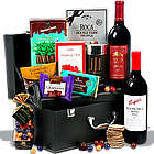 Red Wine Duo and Chocolate Suitcase Gift Basket
