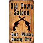 Old Town Saloon Metal Sign