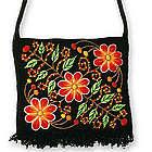 'Spring Night' Wool Flap Shoulder Bag