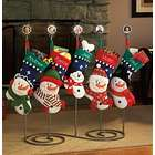 3-D Snow Family Stocking