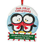 "Personalized ""Our First Christmas"" Ornament"