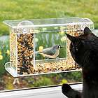 Window-Mount See-Through Clear Plastic Bird Feeder