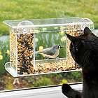 Window-Mount See-Through Clear Plastic Bird Feeder