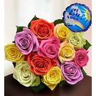 Get Well Soon Rose Bouquet with Balloon