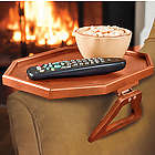 Wooden Clip-On Armchair Table with Protective Lip