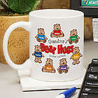 Grandparent's Bear Hugs Personalized Ceramic Coffee Mug