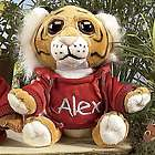 Personalized Zoo Animals Stuffed Tiger