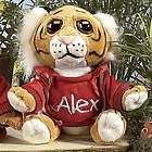 Personalized Zoo Animals Stuffed Tiger