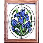 Floral Painted Stained Glass Window