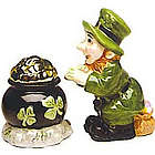 Leprechaun & Pot of Gold Salt & Pepper Shakers