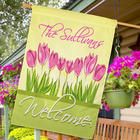 Spring Tulips Personalized House Flag