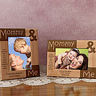 Personalized Mommy and Me Wooden Picture Frame
