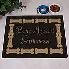 Personalized Bone Appetit Dog Food Mat